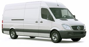 Cargo van car Royalty Free Stock Image