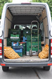 Cargo van loaded with fruits and vegetable Royalty Free Stock Photography