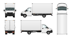 Cargo van vector illustration on white. City commercial minibus. Template. delivery vehicle stock illustration
