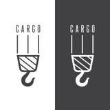 Cargo vector design template with crane Stock Image