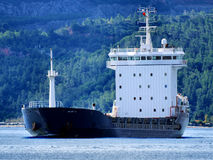 Cargo Vessel A1. Cargo ship underway in coastal waters Royalty Free Stock Photography