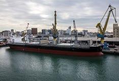 Cargo vessel Clipper in seaport Casablanca, Morocco Stock Photo