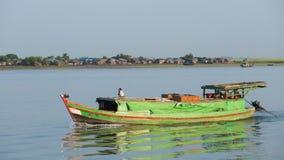 Cargo vessel on the Kaladan River Stock Image