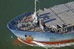 Cargo vessel on Kiel Canal Royalty Free Stock Image