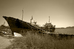 Cargo vessel for scrap Royalty Free Stock Image