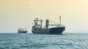 Cargo vessel (ship) in gulf of Thailand Stock Photo
