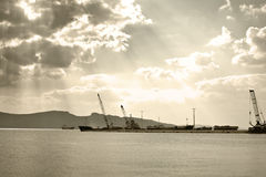 Cargo vessel Royalty Free Stock Image