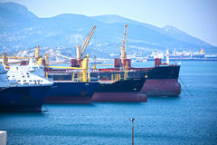 Cargo Vessels Stock Photography