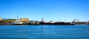 Cargo vessels for scrap Royalty Free Stock Images