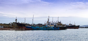 Cargo vessels for scrap Royalty Free Stock Photography