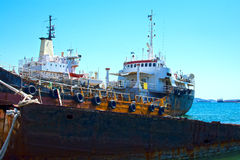 Cargo vessels for scrap Stock Image
