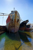 Cargo vessels for scrap Stock Photography