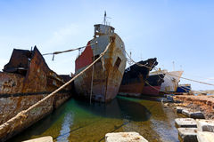 Cargo vessels for scrap Royalty Free Stock Image