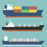 Cargo vessels and tankers shipping delivery bulk carrier train Stock Image