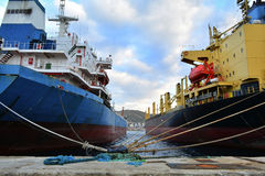 Cargo vessels Stock Images