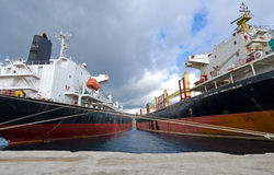 Cargo vessels Royalty Free Stock Photos