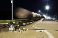 Cargo wagon entering brakes Royalty Free Stock Image