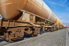 Cargo wagons Royalty Free Stock Images