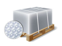 Cargo on a wooden pallet Stock Photography