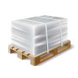 Cargo on a wooden pallet Stock Images