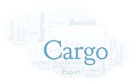 Cargo word cloud. Wordcloud made with text only royalty free illustration