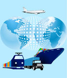 Cargo world-wide. Cargo world wide, container logistic Stock Images