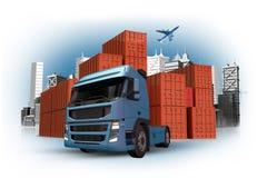 Cargo y concepto de la aduana Foto de archivo libre de regalías