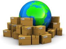 Cargo y envío del mundo Foto de archivo libre de regalías