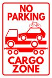 Cargo zone. Funny sign saying No parking - Cargo zone Royalty Free Stock Photography