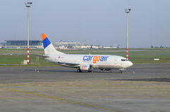 Cargoair Boeing pronto para o vôo Imagem de Stock