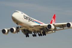 Cargolux-Jumbojet Stockfoto