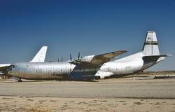 Cargomaster USAF Дугласа C-133AQ на Мохаве стоковые изображения
