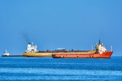 Cargos à Anchorage Photos stock