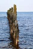 Cargos velhos do quebra-mar perto da toupeira Imagem de Stock Royalty Free