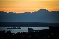 Cargueiro em Puget Sound Imagens de Stock Royalty Free