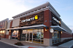 Carhartt Apparel Store. Carhartt is a retailer focusing on work related apparel royalty free stock image