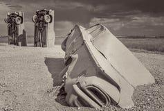Carhenge, eine moderne Replik von Stonehenge lizenzfreies stockfoto