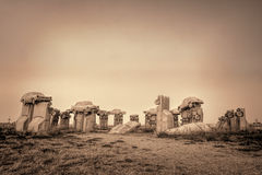 Carhenge, eine moderne Replik von Stonehenge lizenzfreies stockbild