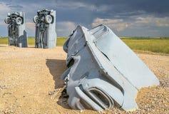 Carhenge, eine moderne Replik von Stonehenge stockbilder