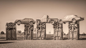 Carhenge, a modern replica of Stonehenge Royalty Free Stock Images