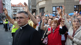 Carholics在弗罗茨瓦夫,波兰 库存图片