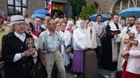 Carholics在弗罗茨瓦夫,波兰 库存照片