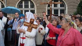 Carholics à Wroclaw, Pologne Images libres de droits