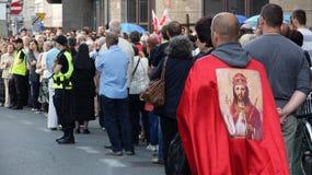 Carholics in Breslau, Polen Stockbilder
