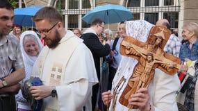 Carholics in Breslau, Polen Stockfotos