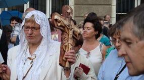 Carholics i Wroclaw, Polen Arkivbild