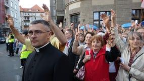 Carholics in Wroclaw, Polen Stock Afbeelding