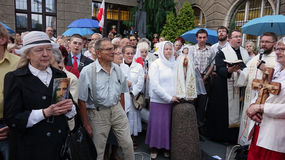 Carholics in Wroclaw, Polen Stock Foto's