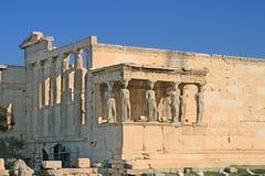 Cariátide do templo de Erechtheion Fotografia de Stock