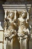 Cariátides del palacio de Marrese en Lecce, Apulia, Italia fotos de archivo libres de regalías
